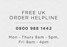 Free UK Order Helpline - 0800 988 1442
