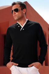 Glenmuir Aviemore Double Collar Merino Blend Button Detail Sweater