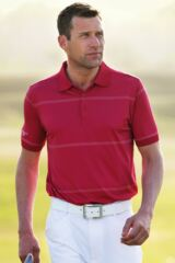 Glenmuir Bexley Quick Dry Performance Golf Shirt with Fine Stripe Detail