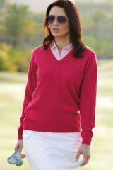 Glenmuir Brunton 100% Lambswool Classic V Neck Golf Sweater