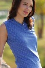 Glenmuir Carley Cotton Polka Dot Sleeveless Golf Shirt