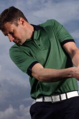 Glenmuir Dublin Fine Striped Cotton Golf Polo Shirt