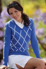 Glenmuir Erin Diamond Design 100% Supersoft Cotton Sweater