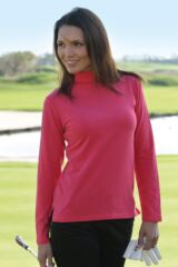 Glenmuir Hayley Shaped Fit Long Sleeve Cotton Golf Shirt