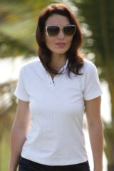 Glenmuir Imogen Cotton Polka Dot Golf Shirt