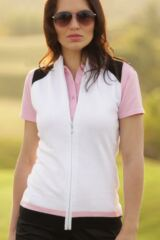 Glenmuir Katie 100% Cotton Colour Block Zip Front Gilet