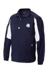 Glenmuir Ryder Cup 2014 Fanwear Kinross Long Sleeve Zip Neck Windshirt with Contrast Detail