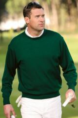 Glenmuir Kirkton Lightweight Merino Wool Crew Round Neck Golf Sweater