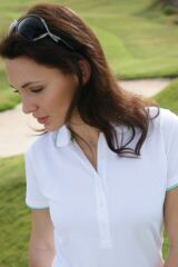 Glenmuir Kitty Cotton Polo Shirt with Tipping Detail