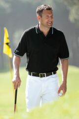 Glenmuir Lonie Combed Cotton Golf Polo Shirt with Collar and Cuff Detail