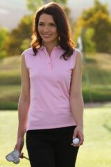 Glenmuir Mallow Shaped Fit Cotton Sleeveless Golf Shirt