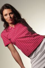 Glenmuir Milly 100% Mercerised Cotton Stripe Golf Shirt