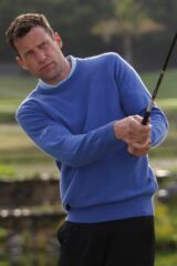 Glenmuir Morar 100% Lambswool Crew Neck Golf Sweater