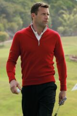 Glenmuir Oban 100% Lambswool Zip Neck Sweater