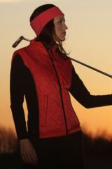 Glenmuir Poppy Windproof Quilted Golf Gilet