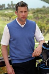 Glenmuir Rankin 100% Extrafine Merino Wool Sleeveless Golf Slipover