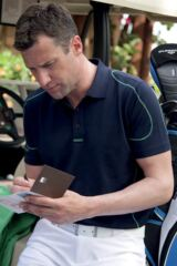 Glenmuir Swinton Quick Dry UV Performance Golf Shirt with Converstitch Detail