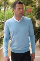 Glenmuir Wilkie 100% Extrafine Merino Wool V Neck Golf Sweater