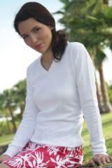 Glenmuir Yasmin 100% Supersoft Cotton V Neck Golf Sweater