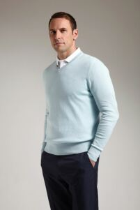 Glenmuir Mens V Neck Cotton Golf Sweater