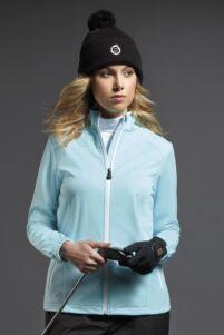 Ladies Zip Front Stitch Detail Water Repellent Golf Jacket
