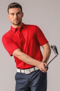 Mens Luxury Pima Cotton Golf Polo Shirt