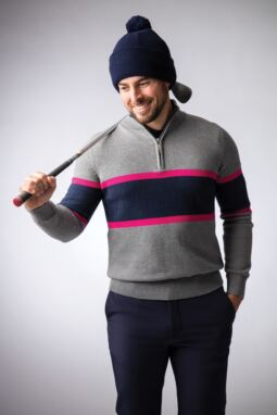 Men's Magenta Bunker Look