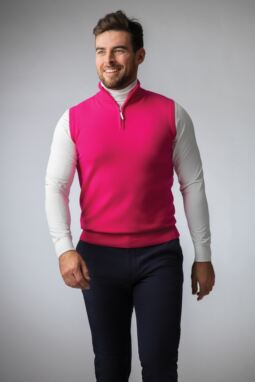 Men's Magenta Green Look