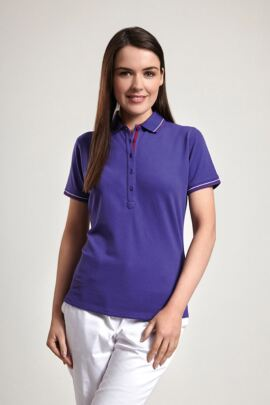 Glenmuir Ladies Two Colour Tipped Golf Polo Shirt