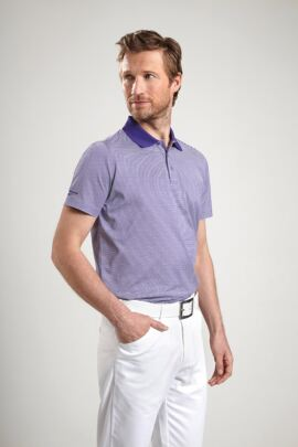 Glenmuir Mens Feeder Stripe Mercerised Golf Polo Shirt