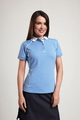 Glenmuir Ladies Performance Contrast Collar Golf Polo Shirt