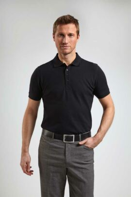 Glenmuir Mens Tailored Fit Cotton Pique Polo Shirt