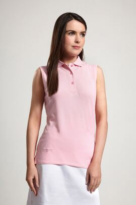 Glenmuir Ladies Sleeveless Cotton Pique Polo Shirt