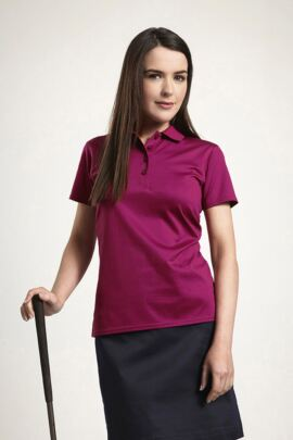 Glenmuir Ladies Plain Mercerised Cotton Polo Shirt