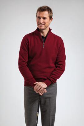 Glenmuir Mens Zip Neck Lambswool Golf Sweater - Sale