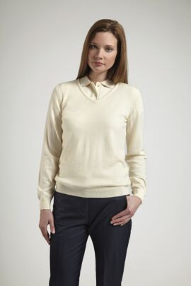 Glenmuir Ladies V Neck Merino Wool Golf Sweater - Sale