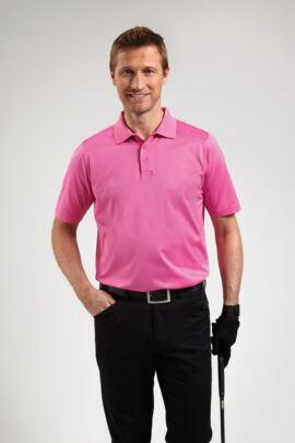 Glenmuir Mens Plain Mercerised Golf Polo Shirt