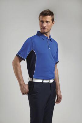 Glenmuir Mens Performance Contrast Panel Golf Polo Shirt