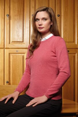 Ladies Round Neck Cashmere Golf Sweater