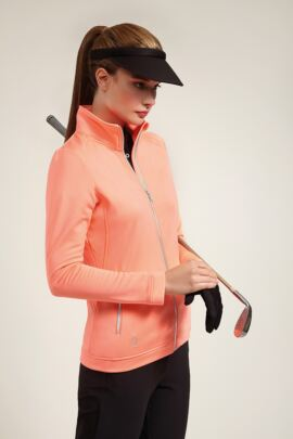 Glenmuir Ladies Performance Zip Front Long Sleeve Mid Layer - Sale
