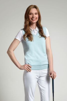 Glenmuir Astrid 100% Supersoft Cotton V Neck Slipover - Sale