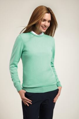 Glenmuir Ladies Crew Neck Lambswool Golf Sweater - Sale