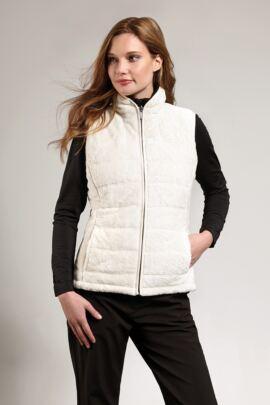 Ladies Water Repellent Reversible Fleece Lined Quilted Gilet