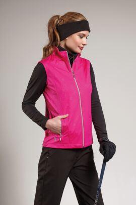 Ladies Water Repellent Embossed Patterned Zip Front Performance Gilet