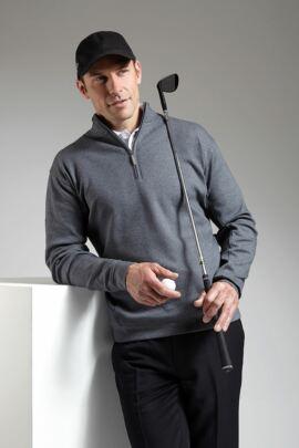 Glenmuir Mens Zip Neck Interlock Jersey Golf Mid Layer