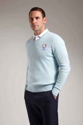Official Ryder Cup 2016 Glenmuir Mens V Neck Cotton Golf Sweater