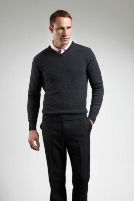 Glenmuir Mens Lambswool V Neck Golf Sweater - Sale