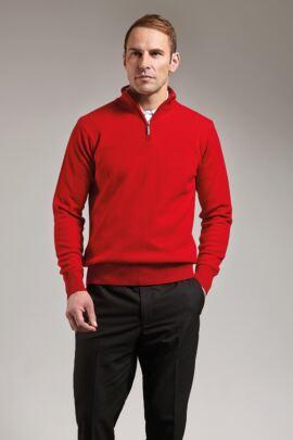 Mens Zip Neck Lambswool Golf Sweater