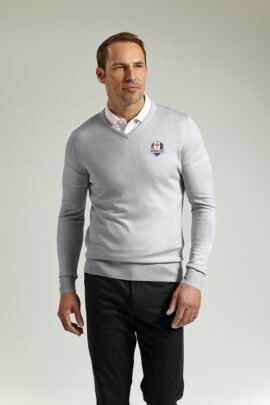 Official Ryder Cup 2016 Glenmuir Mens V Neck Merino Wool Golf Sweater