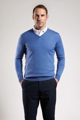 Glenmuir Mens V Neck Merino Wool Golf Sweater
